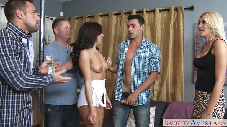 The bride caught a guy on a bachelor party