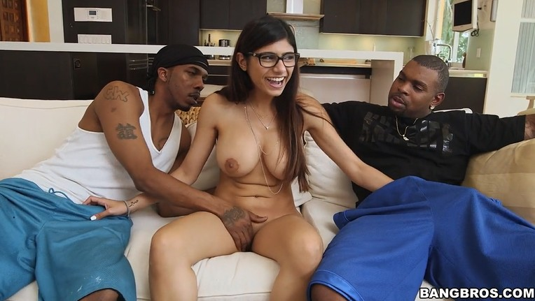 Busty Schoolgirl Takes on Two Black Big Dicks