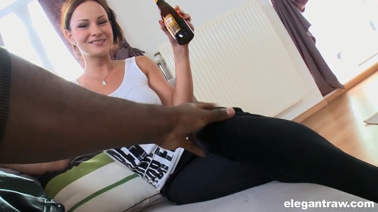 Drunk milf dreams of a black cock - pov