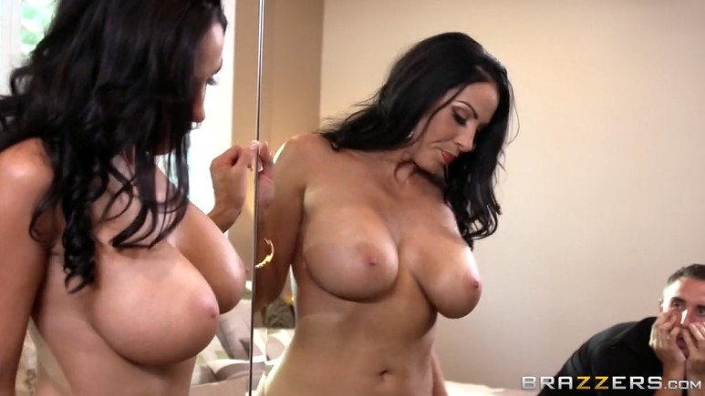 Mature with Big Tits getting Naked and seduced guy