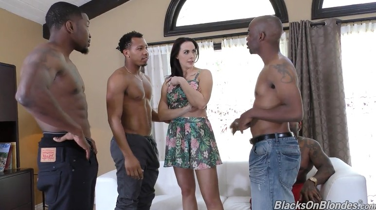 Blacks take turns fucking a mature milf