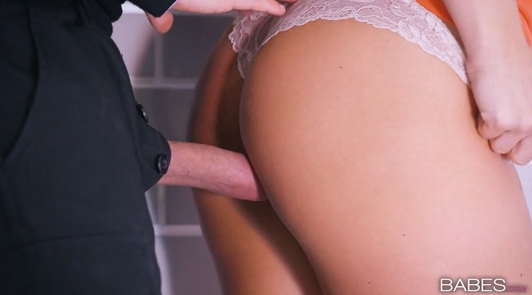 Security guard fucks gorgeous blonde mature at work