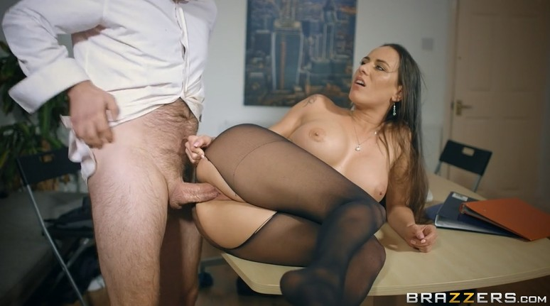 Hot office fuck with busty milf Mea Melone